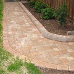 Custom walkway with landscape design